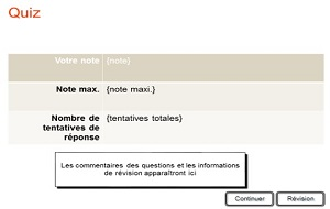 quiz pour e-learning